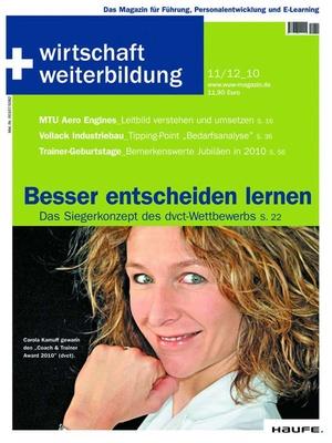 wirtschaft + weiterbildung Ausgabe 11+12/2010   wirtschaft & weiterbildung