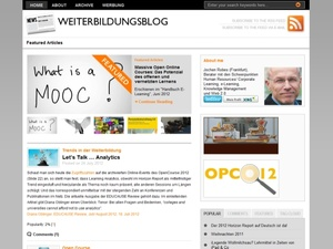 HR-Blogs: Impulse rund ums Lernen  www.weiterbildungsblog.de