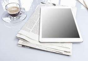 Zeitung iPad Kaffee