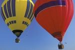 Zwei Heissluftballone